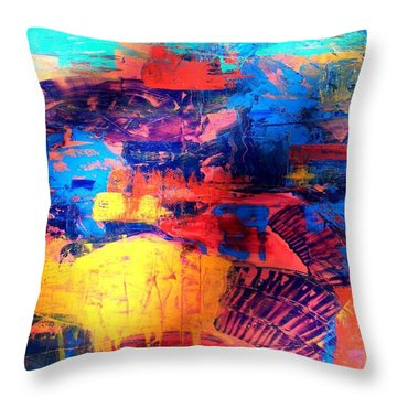 Mesa Magic Throw Pillow by Carolyn Repka