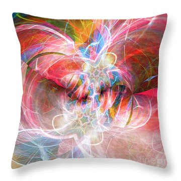 Throw Pillow featuring the digital art Metamorphosis  by Margie Chapman