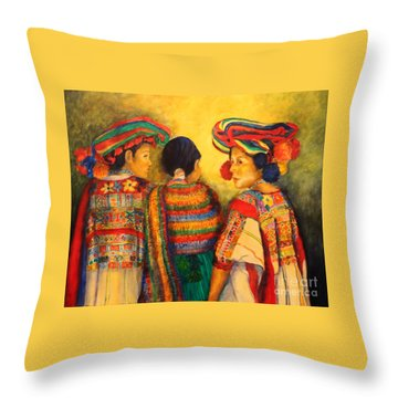 Mexican Impression Throw Pillow by Dagmar Helbig