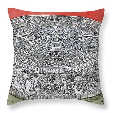 Mexico Stone Of The Sun Throw Pillow