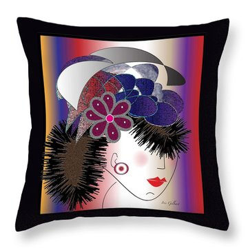 Michelle Throw Pillow by Iris Gelbart