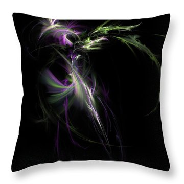 Midnight Bouquet Throw Pillow by Elizabeth McTaggart