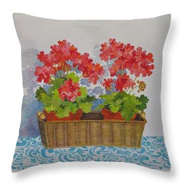 Mimi's Basket Throw Pillow