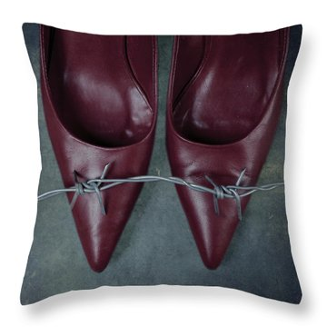 Mind Your Steps Throw Pillow by Joana Kruse