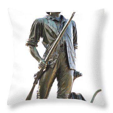 Minute Man Statue Concord Massachusetts Throw Pillow