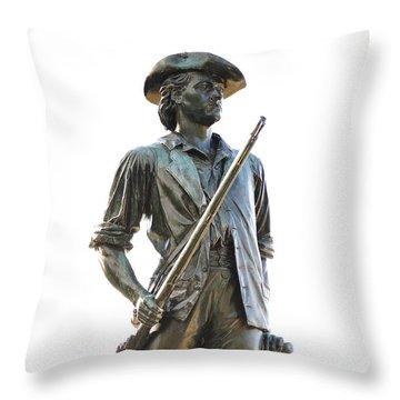 Minute Man Statue Concord Massachusetts Throw Pillow