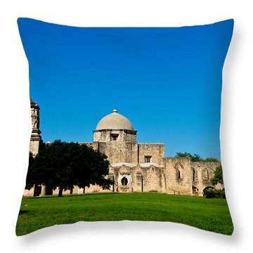 Mission San Jose Throw Pillow