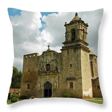 Throw Pillow featuring the photograph Mission San Jose by Olivia Hardwicke