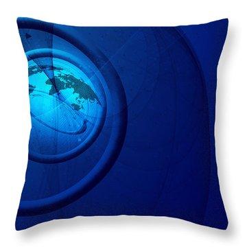 Modern Business Abstract Throw Pillow