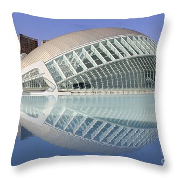 The Hemisferic In Valencia Spain Throw Pillow