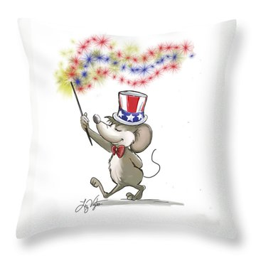 Moe's Happy 4th Of July Throw Pillow