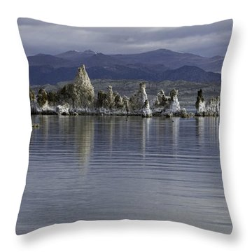 Throw Pillow featuring the photograph Mono Lake by Betty Depee