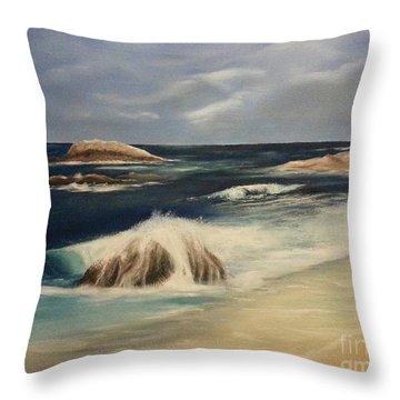 Monterey Coast Throw Pillow