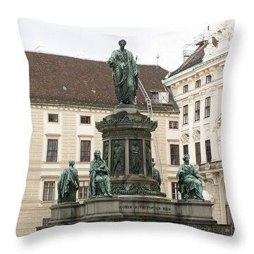 Monument Throw Pillow by Evgeny Pisarev