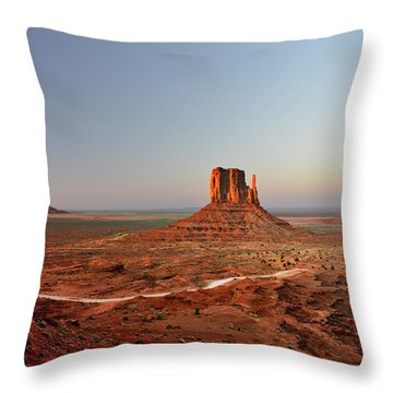 Monument Valley Throw Pillow by Christine Till