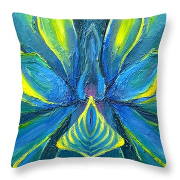 Moonflower Throw Pillow by Tiffany Davis-Rustam