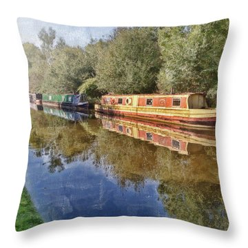 Moored Up Throw Pillow