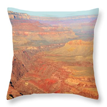 Morning Colors Of The Grand Canyon Inner Gorge Throw Pillow by Shawn O'Brien