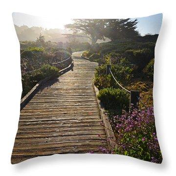 Morning Glory Throw Pillow by Lynn Bauer