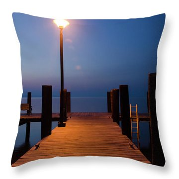 Morning On The Dock Throw Pillow