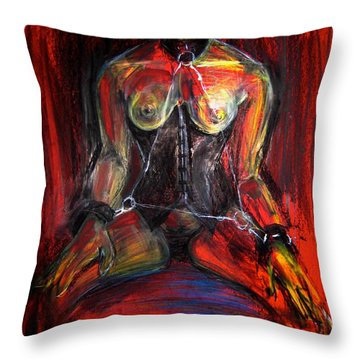 Throw Pillow featuring the drawing Motel 6 by Gabrielle Wilson-Sealy
