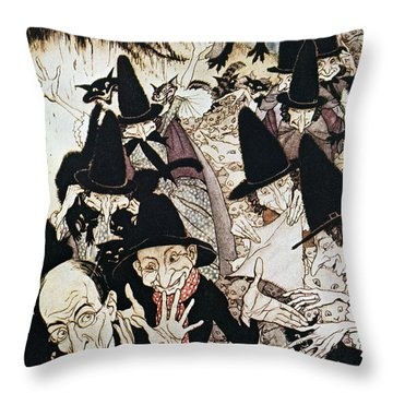 Mother Goose, 1913 Throw Pillow by Granger