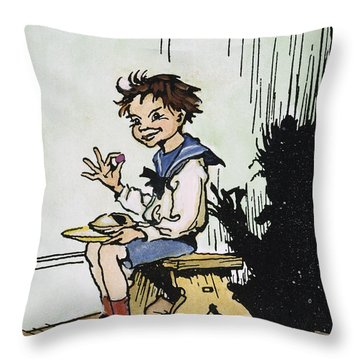 Mother Goose: Jack Horner Throw Pillow by Granger