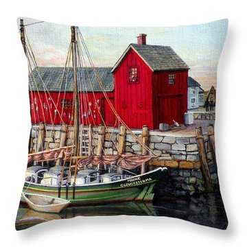 Motif  Number One Throw Pillow by Eileen Patten Oliver