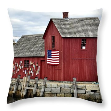 Throw Pillow featuring the photograph Motif  Rockport Ma by Caroline Stella