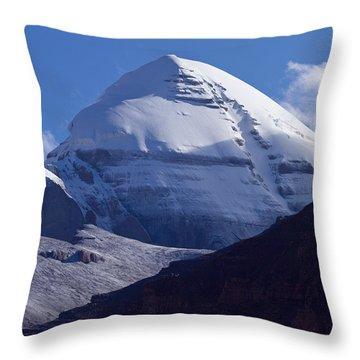 Mount Kailash Throw Pillow