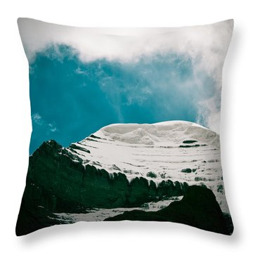 Mount Kailash Western Slope Home Of The Lord Shiva Throw Pillow