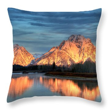 Mount Moran Throw Pillow by Steve Stuller