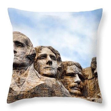 Mount Rushmore Monument Throw Pillow by Olivier Le Queinec