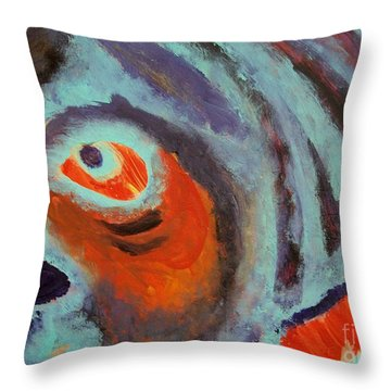 Mr Pugglesworth Aint Happy Throw Pillow by Laurette Escobar