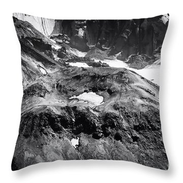 Mt St. Helen's Crater Throw Pillow by David Millenheft