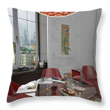 My Art In The Interior Decoration - Elena Yakubovich Throw Pillow by Elena Yakubovich