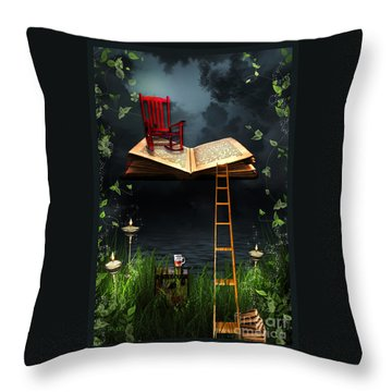 My Book Said Come Fly With Me Throw Pillow by Paula Ayers