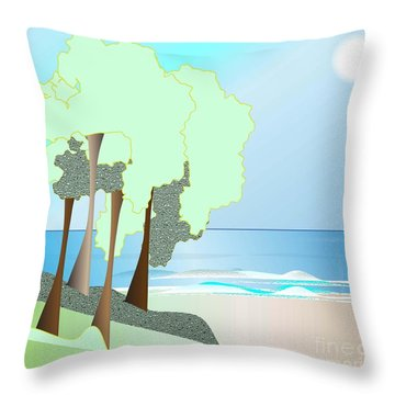 My Special Island Throw Pillow by Iris Gelbart