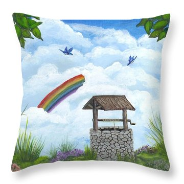 My Wishing Place Throw Pillow by Sheri Keith