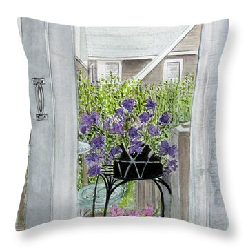 Nantucket Room View Throw Pillow by Carol Flagg