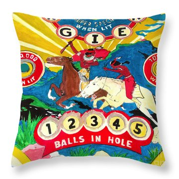 Native Pinball Throw Pillow