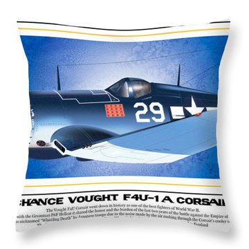 Navy Corsair 29 Throw Pillow