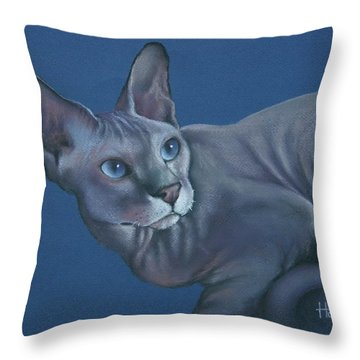 Throw Pillow featuring the painting Nefertiti by Cynthia House