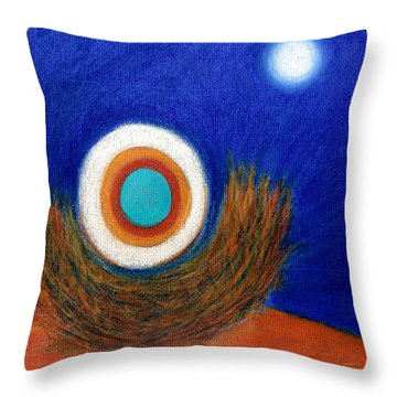 Nesting Moon Throw Pillow