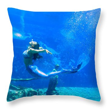 Mermaid Spring Throw Pillow