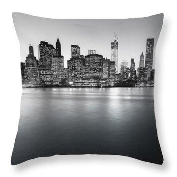 New York City Skyline Throw Pillow by Vivienne Gucwa