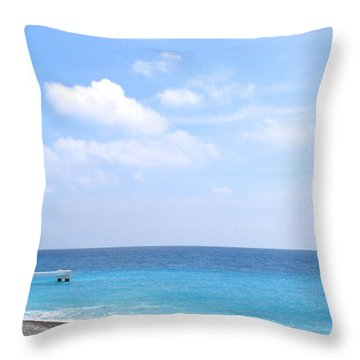 Nice  Throw Pillow by Suzanne Oesterling