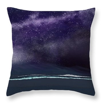 Throw Pillow featuring the digital art Night Of A Thousand Stars by Anthony Fishburne