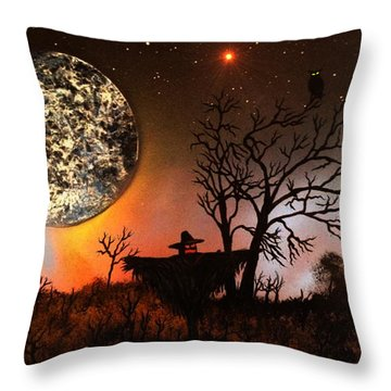 Night Of The Scarecrow  Throw Pillow
