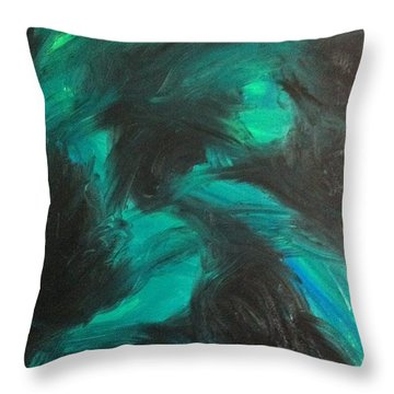 Throw Pillow featuring the painting Northern Light by Jacqueline McReynolds